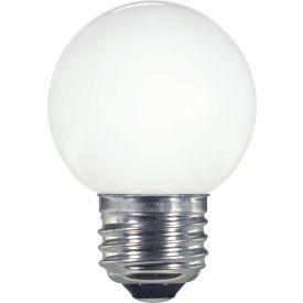 Satco S9159 1.4W LED G16 1/2 Globe Medium Base White 2700K