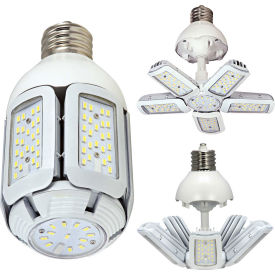 Satco S29752 60W LED HID Replacement Adjustable Beam Angle Corn Lamp, EX39 Base, 5000K, 100-277V