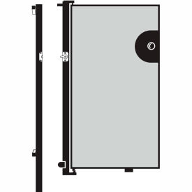 Screenflex 4'H Door - Mounted to End of Room Divider - Grey Stone