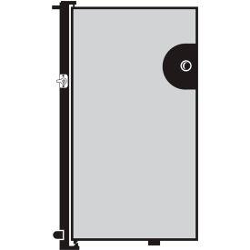 Screenflex 4'H Door - Mounted to End of Room Divider - Vinyl-Granite