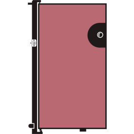 Screenflex 4'H Door - Mounted to End of Room Divider - Vinyl-Raspberry Mist