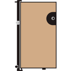 Screenflex 4'H Door - Mounted to End of Room Divider - Vinyl-Hazelnut