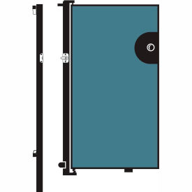 Screenflex 5'H Door - Mounted to End of Room Divider - Summer Blue