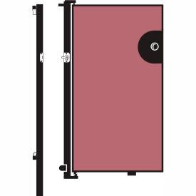 Screenflex 5'H Door - Mounted to End of Room Divider - Vinyl-Raspberry Mist