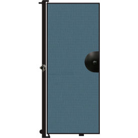 "Screenflex 6'8""H Door - Mounted to End of Room Divider - Lake"