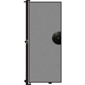 "Screenflex 6'8""H Door - Mounted to End of Room Divider - Stone"