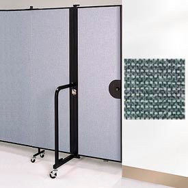 "Screenflex 6'8""H Door - Mounted to End of Room Divider - Mallard"