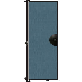 """Screenflex 7'4""""H Door - Mounted to End of Room Divider - Lake"""