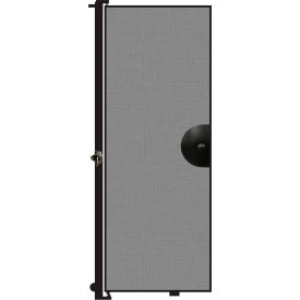 "Screenflex 7'4""H Door - Mounted to End of Room Divider - Stone"