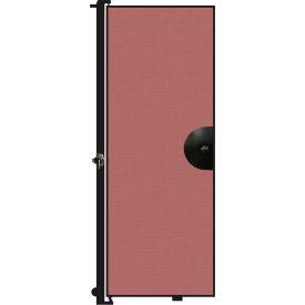 "Screenflex 7'4""H Door - Mounted to End of Room Divider - Rose"