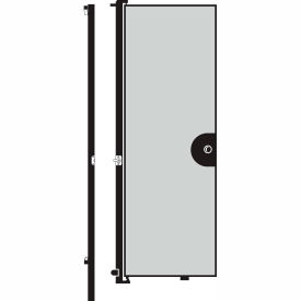 Screenflex 8'H Door - Mounted to End of Room Divider - Grey Stone