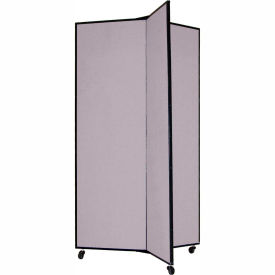 "3 Panel Display Tower, 5'9""H, Fabric - Stone"