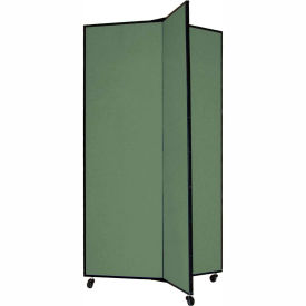 "3 Panel Display Tower, 5'9""H, Fabric - Mallard"