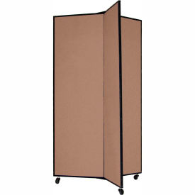 "3 Panel Display Tower, 5'9""H, Fabric - Walnut"