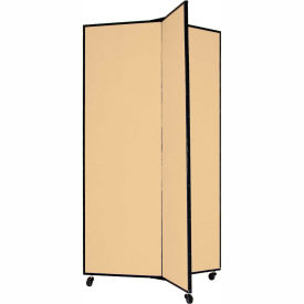 "3 Panel Display Tower, 5'9""H, Fabric - Desert"