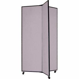"""3 Panel Display Tower, 5'9""""H, Fabric - Grey Smoke"""