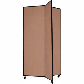 "3 Panel Display Tower, 5'9""H, Fabric - Beech"