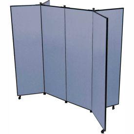 "6 Panel Display Tower, 5'9""H, Fabric - Lake"
