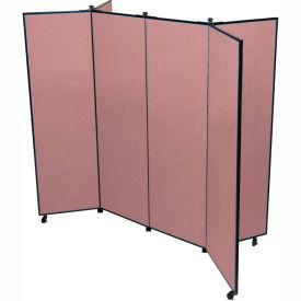 "6 Panel Display Tower, 5'9""H, Fabric - Rose"