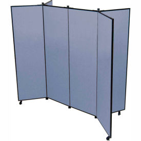 """6 Panel Display Tower, 5'9""""H, Fabric - Summer Blue"""