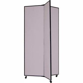 "3 Panel Display Tower, 6'5""H, Fabric - Stone"