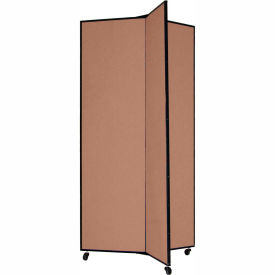 "3 Panel Display Tower, 6'5""H, Fabric - Walnut"