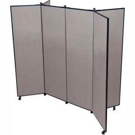 "6 Panel Display Tower, 6'5""H, Fabric - Stone"