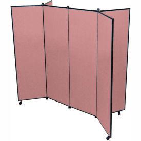 "6 Panel Display Tower, 6'5""H, Fabric - Rose"