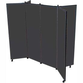 "6 Panel Display Tower, 6'5""H, Fabric - Black"