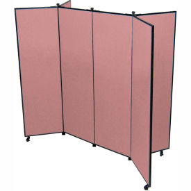 "6 Panel Display Tower, 6'5""H, Fabric - Cranberry"
