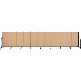 "Screenflex 11 Panel Portable Room Divider, 4'H x 20'5""L, Fabric Color: Wheat"