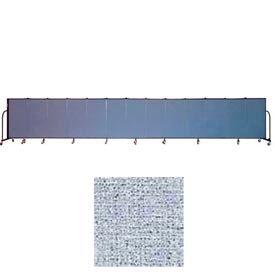 "Screenflex 13 Panel Portable Room Divider, 4'H x 24'1""L, Vinyl Color: Blue Tide"