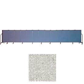 "Screenflex 13 Panel Portable Room Divider, 4'H x 24'1""L, Vinyl Color: Granite"