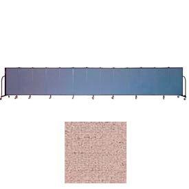 "Screenflex 13 Panel Portable Room Divider, 4'H x 24'1""L, Vinyl Color: Raspberry Mist"