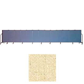 "Screenflex 13 Panel Portable Room Divider, 4'H x 24'1""L, Vinyl Color: Hazelnut"