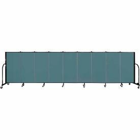 "Screenflex 9 Panel Portable Room Divider, 4'H x 16'9""L, Fabric Color: Lake"