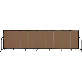 "Screenflex 9 Panel Portable Room Divider, 4'H x 16'9""L, Fabric Color: Oatmeal"