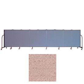 "Screenflex 9 Panel Portable Room Divider, 4'H x 16'9""L, Vinyl Color: Raspberry Mist"