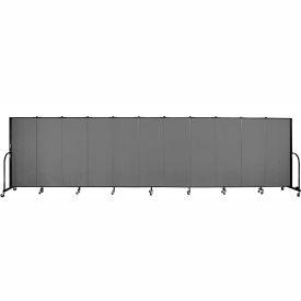 "Screenflex 11 Panel Portable Room Divider, 5'H x 20'5""L, Fabric Color: Stone"