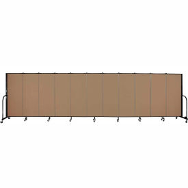 "Screenflex 11 Panel Portable Room Divider, 5'H x 20'5""L, Fabric Color: Beech"