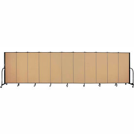 "Screenflex 11 Panel Portable Room Divider, 5'H x 20'5""L, Fabric Color: Sand"