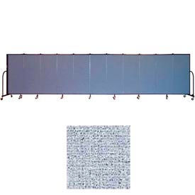 "Screenflex 11 Panel Portable Room Divider, 5'H x 20'5""L, Vinyl Color: Blue Tide"