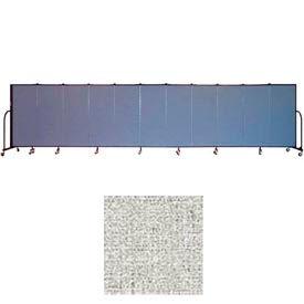 "Screenflex 11 Panel Portable Room Divider, 5'H x 20'5""L, Vinyl Color: Granite"