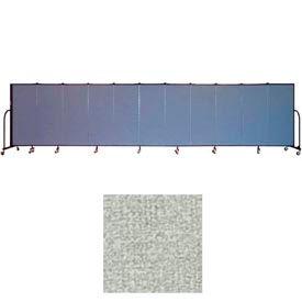 """Screenflex 11 Panel Portable Room Divider, 5'H x 20'5""""L, Vinyl Color: Mint"""
