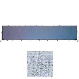"Screenflex 13 Panel Portable Room Divider, 5'H x 24'1""L, Vinyl Color: Blue Tide"