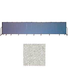 "Screenflex 13 Panel Portable Room Divider, 5'H x 24'1""L, Vinyl Color: Granite"