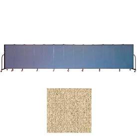 """Screenflex 13 Panel Portable Room Divider, 5'H x 24'1""""L, Vinyl Color: Sandalwood"""