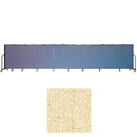 "Screenflex 13 Panel Portable Room Divider, 5'H x 24'1""L, Vinyl Color: Hazelnut"