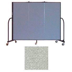"""Screenflex 3 Panel Portable Room Divider, 5'H x 5'9""""L, Vinyl Color: Mint"""