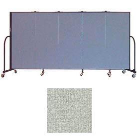 """Screenflex 5 Panel Portable Room Divider, 5'H x 9'5""""L, Vinyl Color: Mint"""